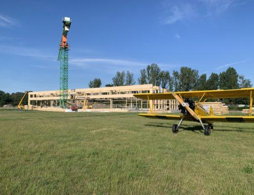 Hangar-Neubau am Flugplatz Bienenfarm